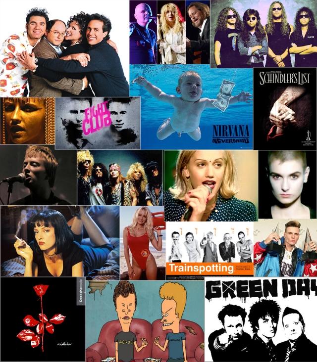 Anii '90 in muzica si film
