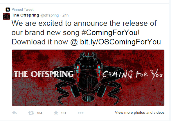 Offspring anunt Twitter
