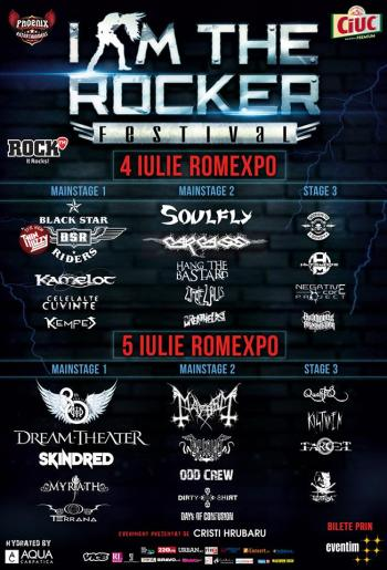 I Am The Rocker Festival 4-5 iulie 2015 Romexpo