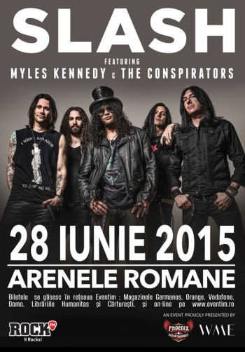 Slash & Myles Kennedy & The Conspirators concert Romania 2015