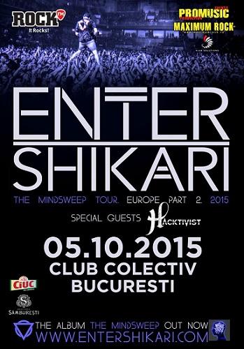 Enter Shikari concert Bucuresti