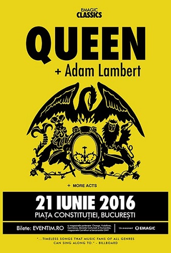 Concert Queen + Adam Lambert Bucuresti 2016
