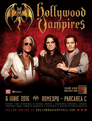 Hollywood Vampires concert Bucuresti