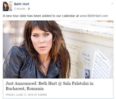Beth Hart concert Bucuresti 2016