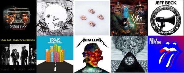 Cele mai bune albume rock 2016