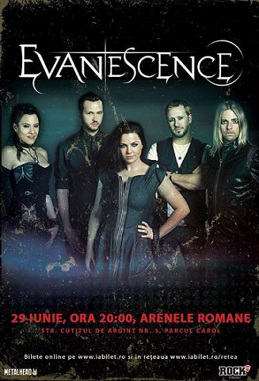 Evanescence concert Bucuresti 2017