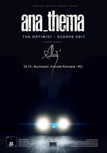 Anathema concert Bucuresti 2017