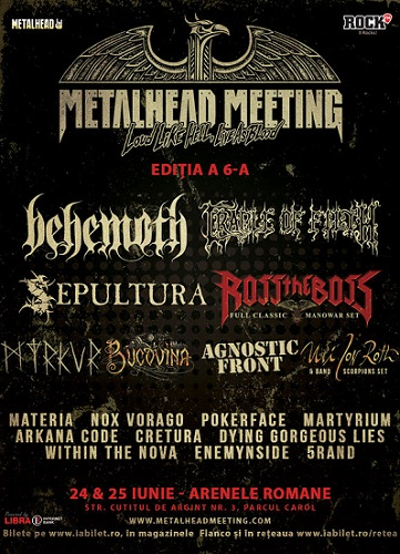 metalhead meeting sepultura si behemoth concert bucuresti