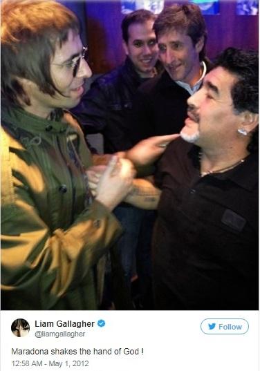 Liam Gallagher si Maradona