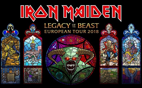 Iron Maiden Legacy of the Beast European Tour 2018