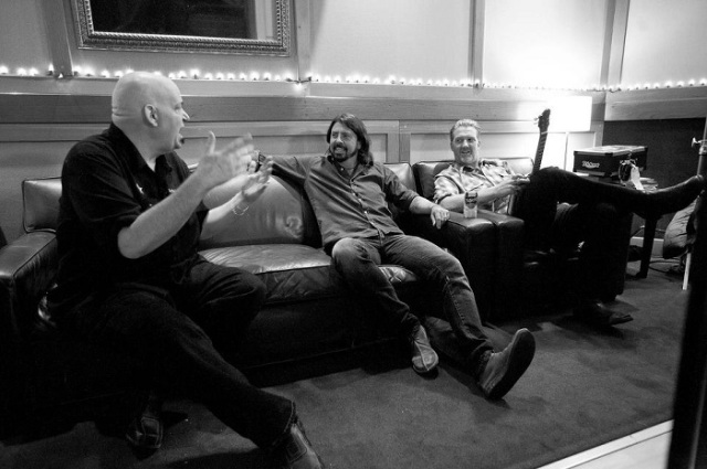Chris Goss (producator Kyuss, Queens of the Stone Age), Dave Grohl, Josh Homme in Sound City