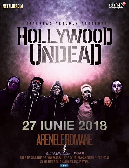 Hollywood Undead concert bucuresti 2018
