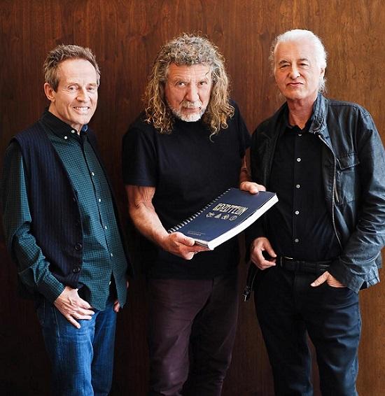 John Paul Jones, Robert Plant si Jimmy Page Mai 2018