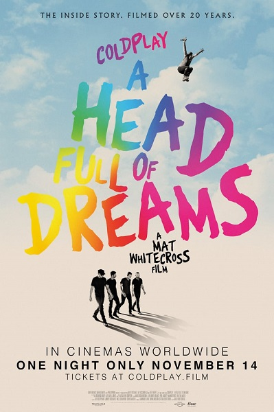 Coldplay A Head Full of Dreams proiectie romania