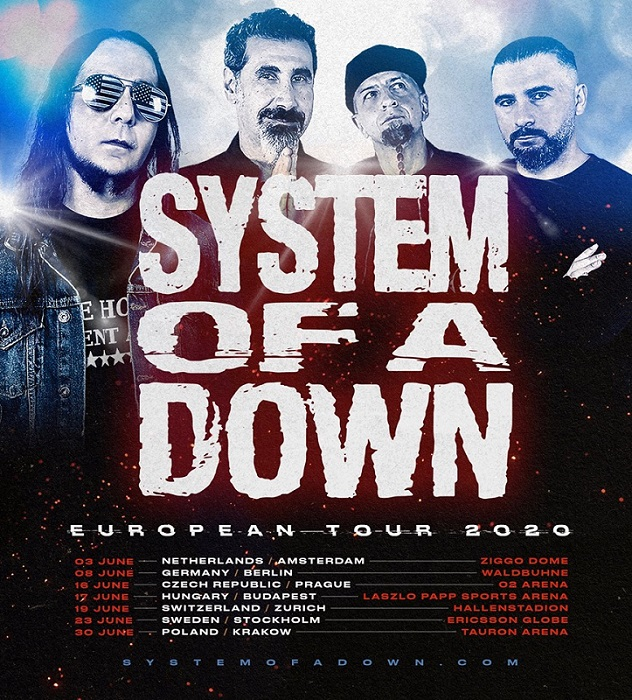 System Of a Down truneu european 2020